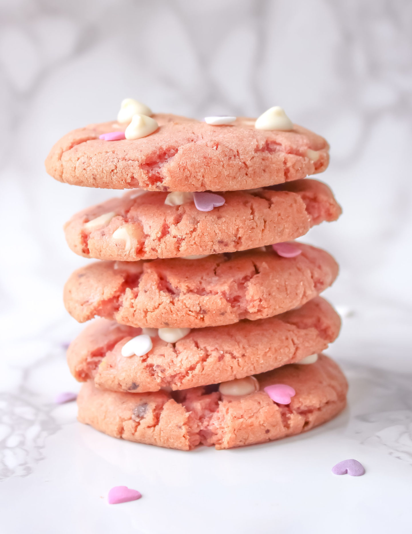 Strawberry White Chocolate Cookies