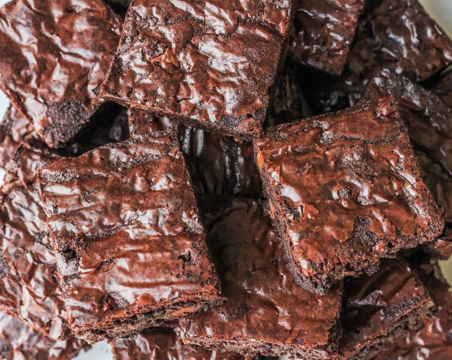 Chewy homemade brownies