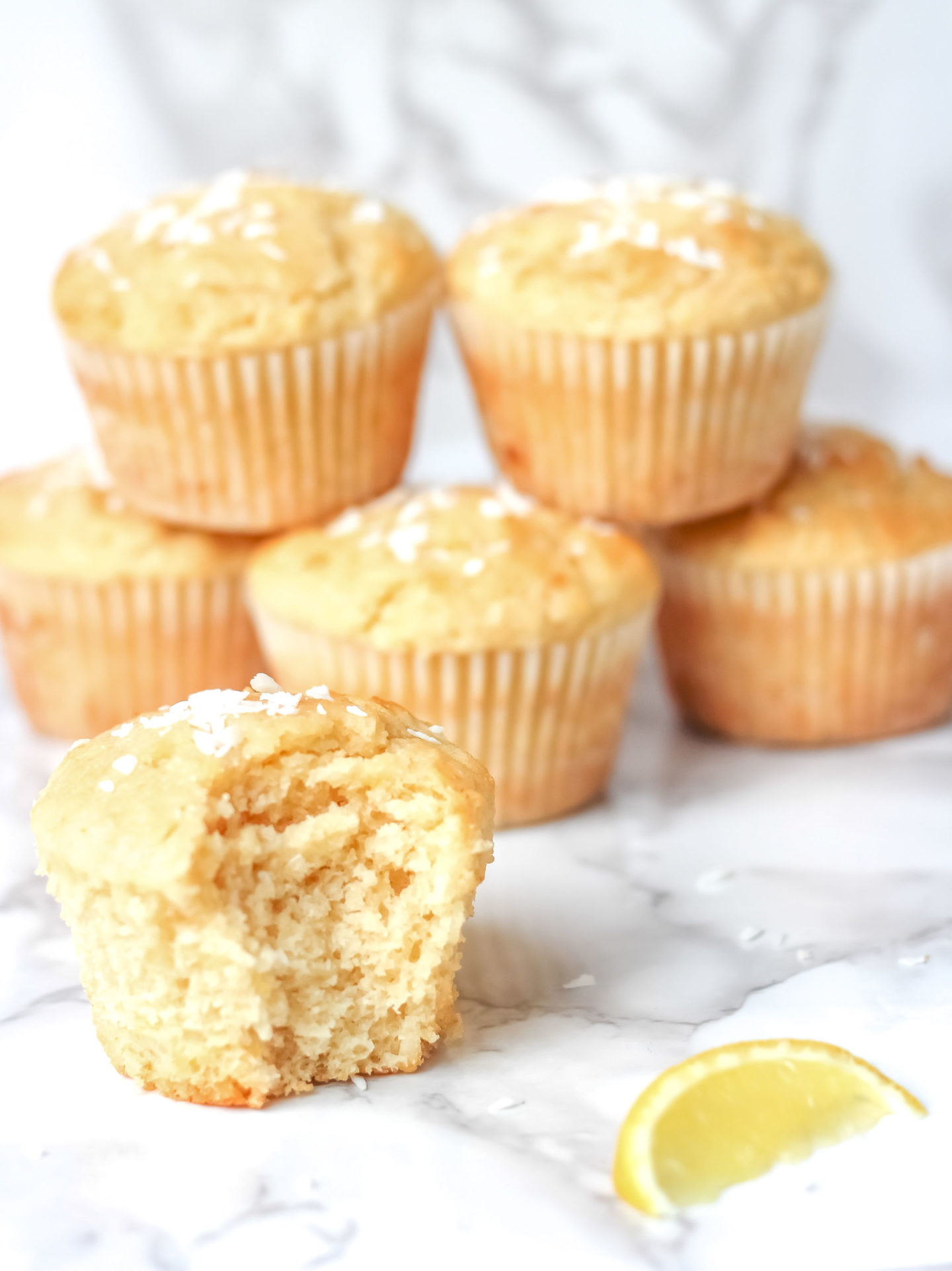 lemon coconut muffins
