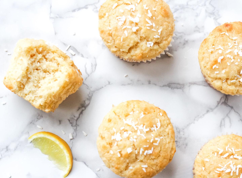 lemon cocnut muffins