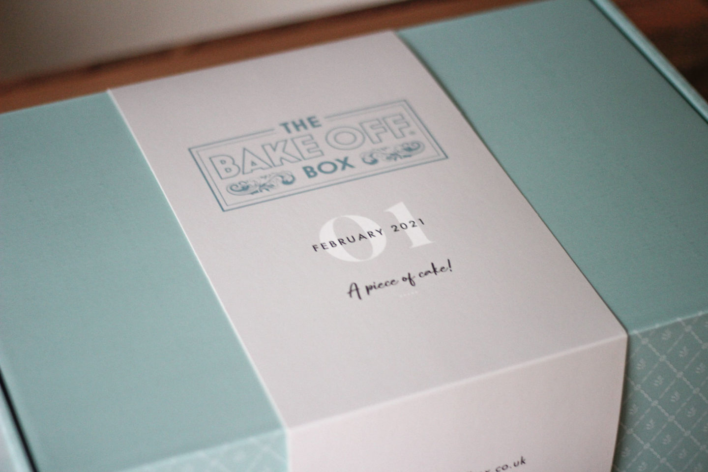 Close up of unopened Bake Off Box